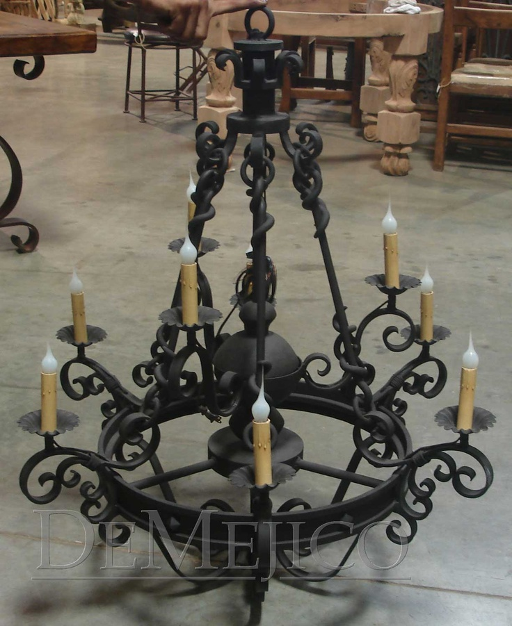 15 must see wrought iron chandeliers pins iron for Hacienda style lighting