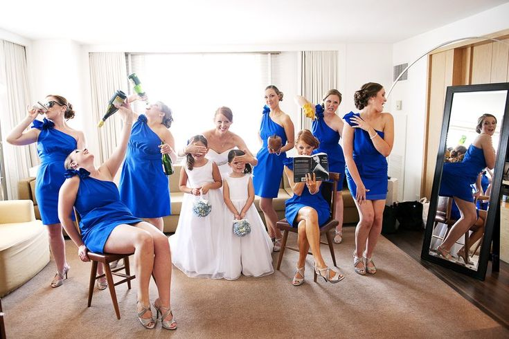 A fun photo idea for a bridesmaids with tons of personality | Kathleen Hertel Photography