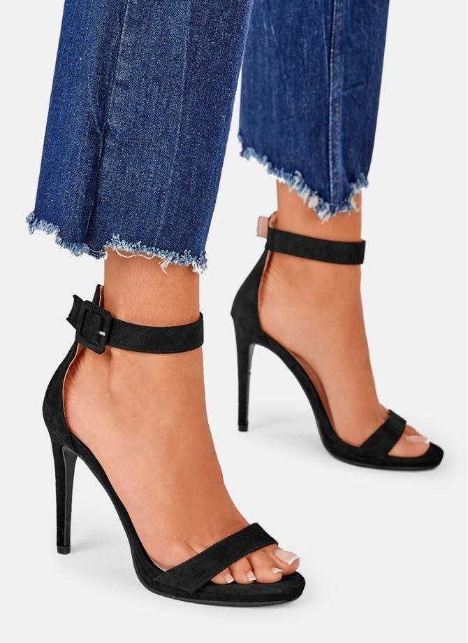 Czarne Sandalki Na Obcasie Rio W Sklepie Deezee Pl Sandals Heels Heels Fashion