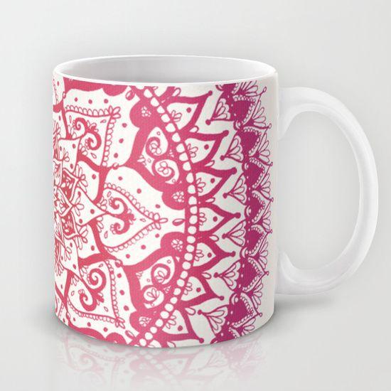 Yin Yang Mandala in Tropical Sunset Mug