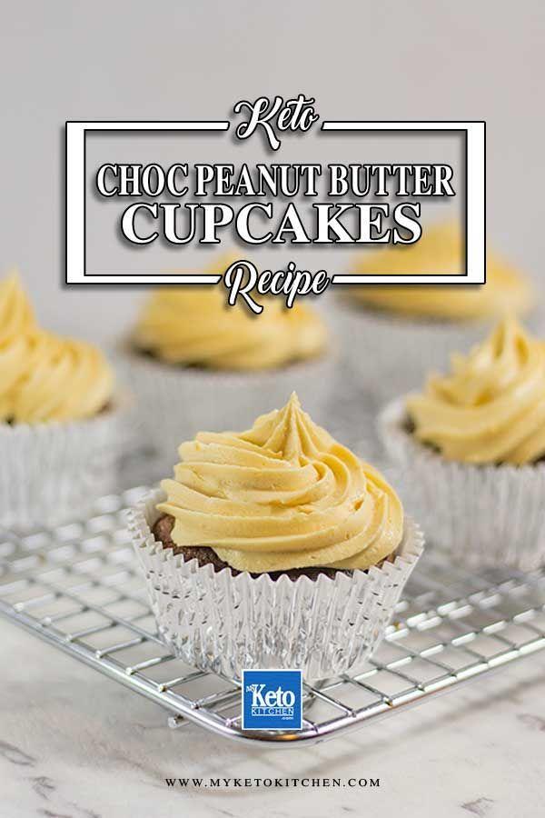 Keto Chocolate Peanut Butter Cupcakes Easy Gluten Free Recipe