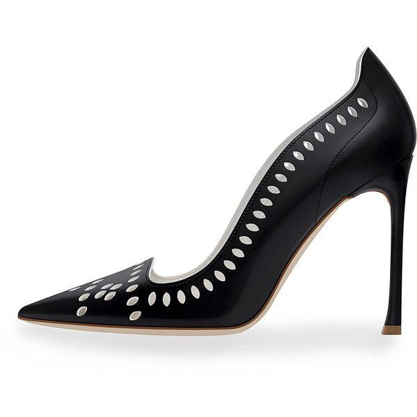 Dior Laser-Cut Leather 100mm Pump, Black (3,130 CNY) ❤ liked on Polyvore featuring shoes, pumps, laser cut shoes, laser cut leather shoes, leather footwear, kohl shoes and black court shoes