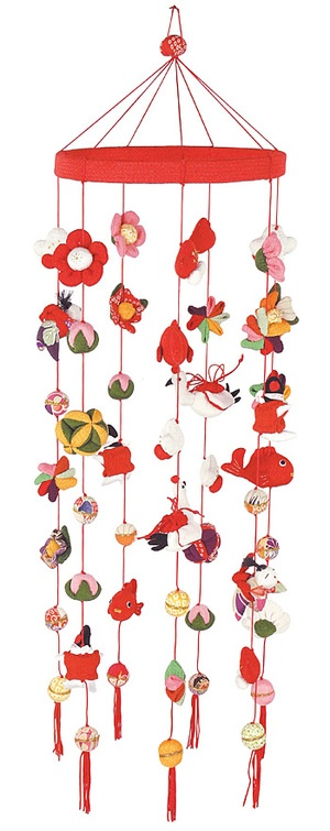 Japanese mobile. pinned by www.auntbucky.com #mobile #baby #nursery