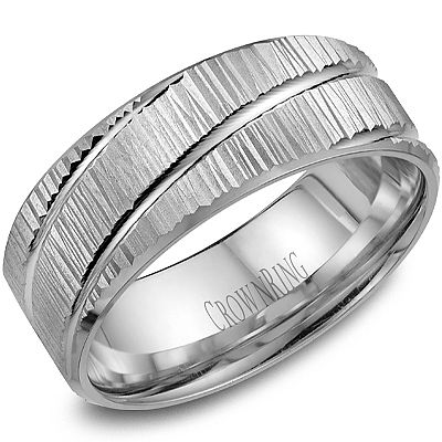 Add some unique texture with this carved band