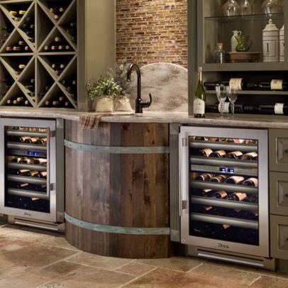 above kitchen cabinet wine storage - Google Search