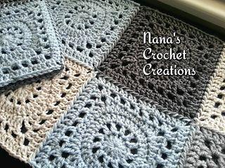 """Nana's """"Granny Wheel"""" Square (7"""") - free crochet pattern by Nana's Crochet Creations."""