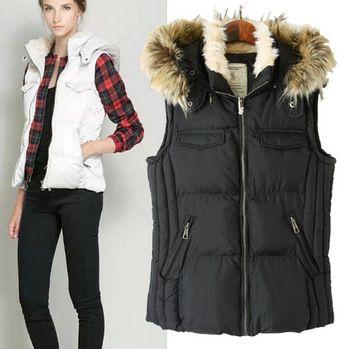 Women Vest Jacket Hooded Sleeveless Jacket Fashion Design Brand New Knit Patchwork Women Vest WC096