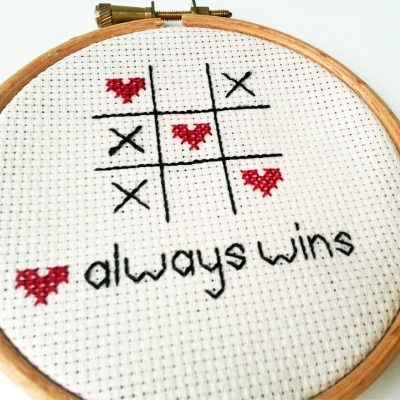 Love always wins Cross Stitch Embroidery Hoop http://www.sundownstitcher.co.uk/ourshop/prod_2944170-Love-always-wins-Cross-Stitch-Embroidery-Hoop.html #crossstitch #xstitch #embroidery #love #romantic #valentines #gift #couples #heart #handmade #embroidery