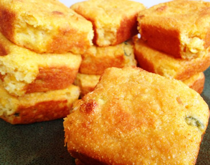 """Skinny Jalapeno Cornbread.  This jalapeno cornbread is light, fluffy, sweet & spicy.  Not only does it taste great but it I have made it """"skinny""""   No oil is used in this recipe. Makes 24 pieces of cornbread.  Nutrition per piece:  Weight Watchers Points + 2 ~ Calories 85 ~ Fat  0.3 g ~ Carbohydrate17.9 g ~Dietary Fiber0.5 g ~ Protein 2.3 g"""