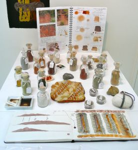New Zealand pigments and workbooks - unfortunately lost in transit...