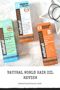 Natural World Hair Oil Review | Looking for a hair oil that nourishes your hair, leaving it soft and silky smooth? Check out my Natural World Hair Oil Review to find out my thoughts!