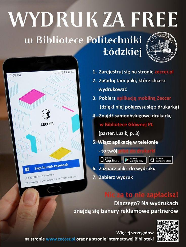 Usługa darmowego drukowania w Bibliotece Głównej Politechniki Łódzkiej