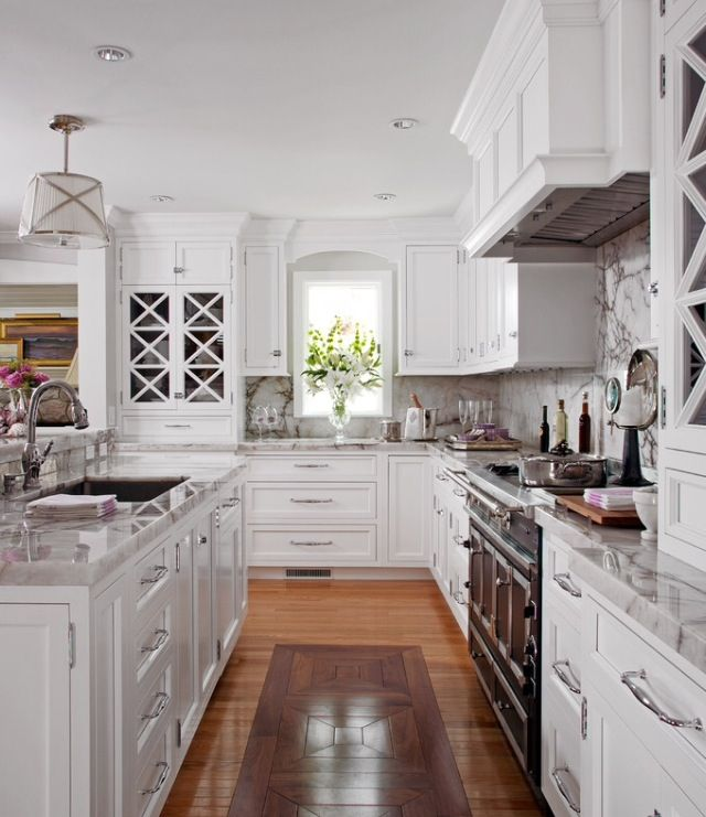 Style White Kitchen White Marble Kitchen Black Kitchen Cabinets White