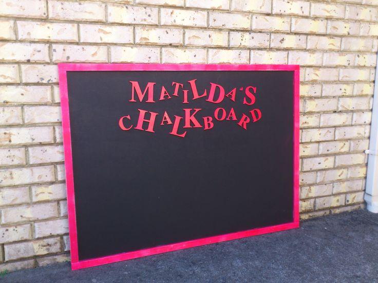 Children's custom chalkboard.