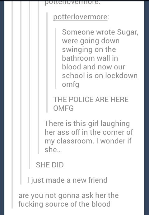 I would do this. Yes, yes I would. If I wasn't scared of getting expelled, yes, I would do this.