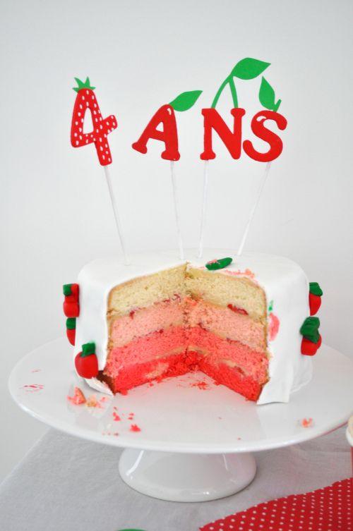 anniversaire à la fraise 14