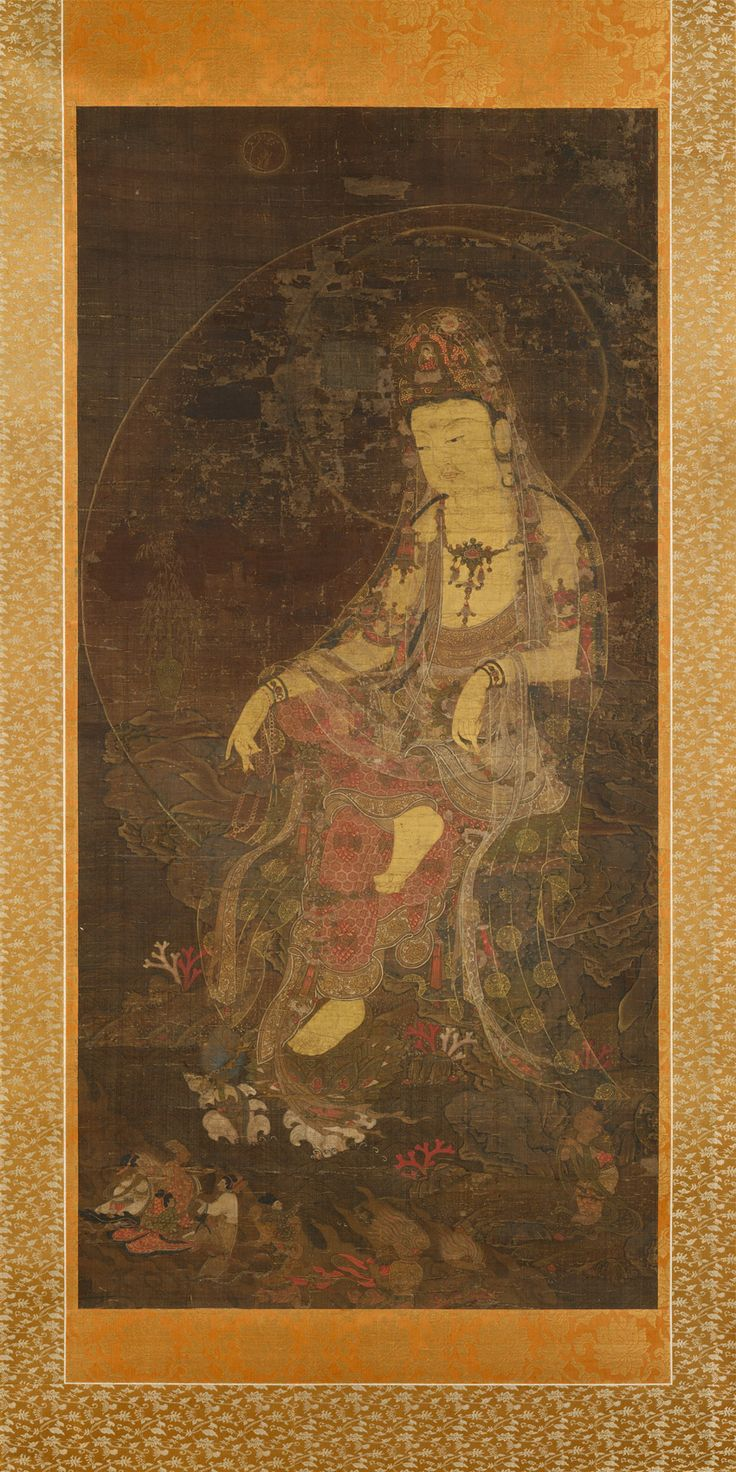 Water-Moon Avalokiteshvara, first half of the 14th century. Korea. The…