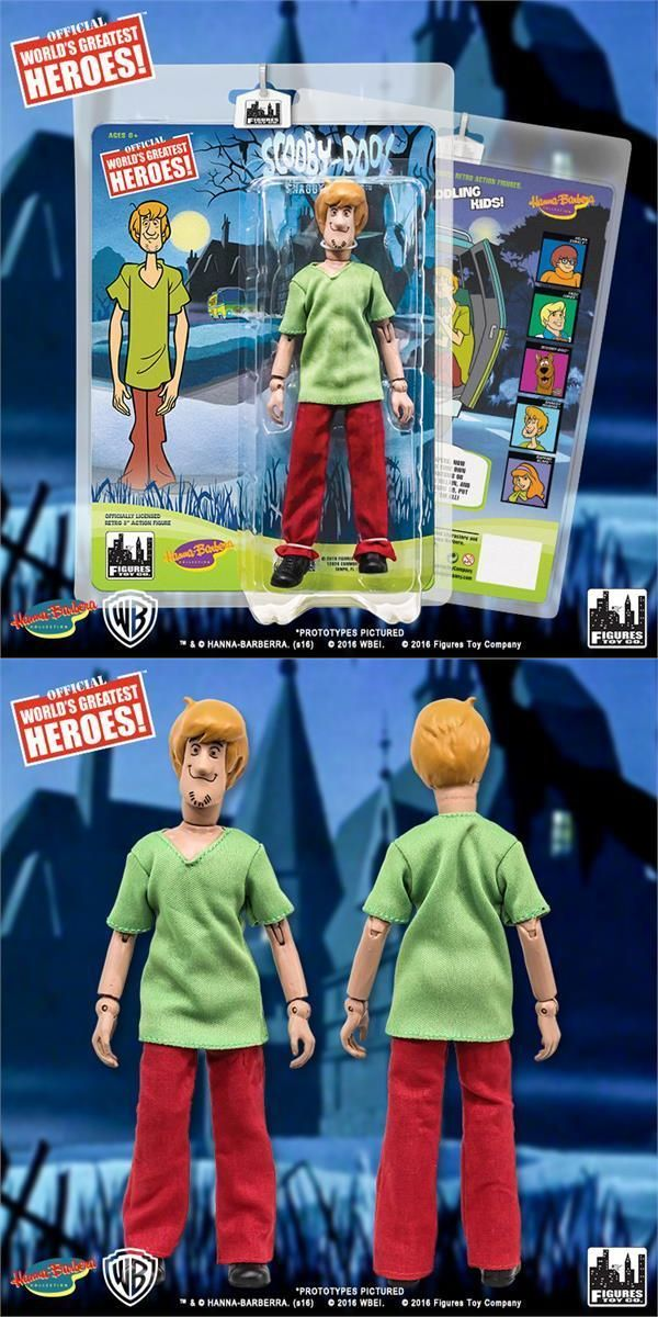 Scooby-Doo 11747: 2016 Figures Toy Company Hanna Barbera Scooby Doo Shaggy 8 Retro Mego Figure -> BUY IT NOW ONLY: $31.45 on eBay!