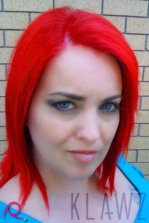 Funky Coloured Hair - Bright Red