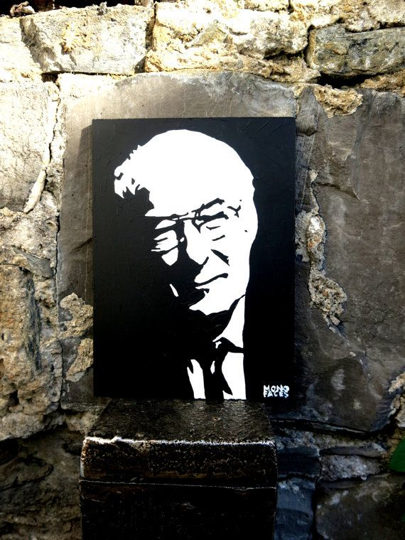 Hand painted acrylic piece of art of Seamus Heaney. by MONOFACES, €14.00