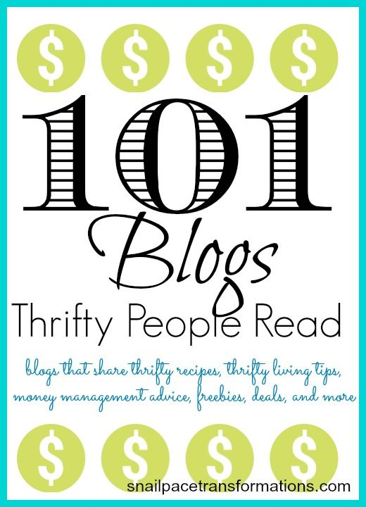 A listing of 101 blogs that will help you live a full thrifty life. Saving you money on every aspect of life and helping you manage what you save.