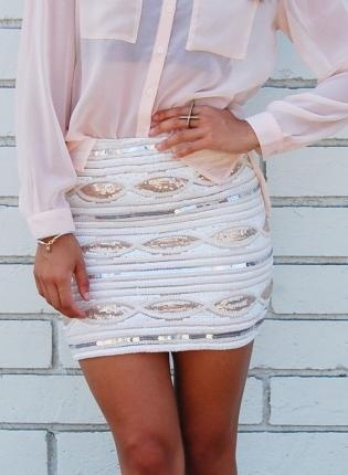 YummnessBlouses, Fashion, Minis Skirts, Style, Sequins Skirts, Outfit, Sparkly Skirt, High Waist Skirt, Dreams Closets