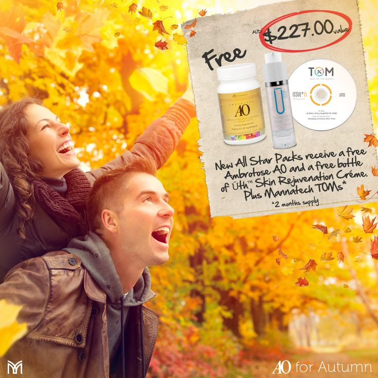 Our AO for Autumn free gift promotion is only available for a couple more days! Make sure to have all your Product Packs and Automatic Orders in before the end of BP5 to be eligible.  Clicking the link for full promotion details, http://www.mannatechblog.com/incentives/ambrotose-for-autumn  #aoforautumn #autumn #ambrotose #promotion #mannatechaustralasia