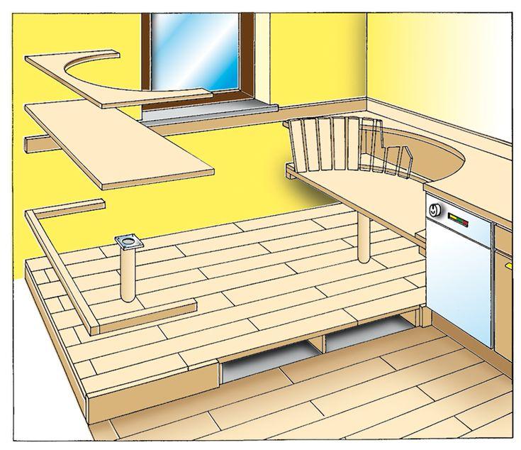 Oltre 25 fantastiche idee su cucine piccole su pinterest cucina compatta banconi da cucina e - Divanetti da cucina ...