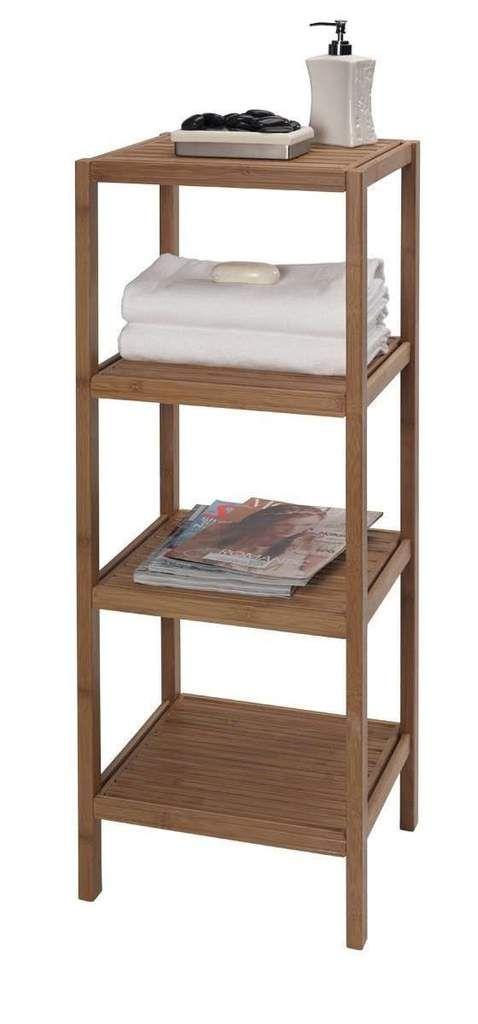 Bamboo Bathroom Shelf Unit | Kami\'s Bathrooms | Pinterest | Bamboo ...