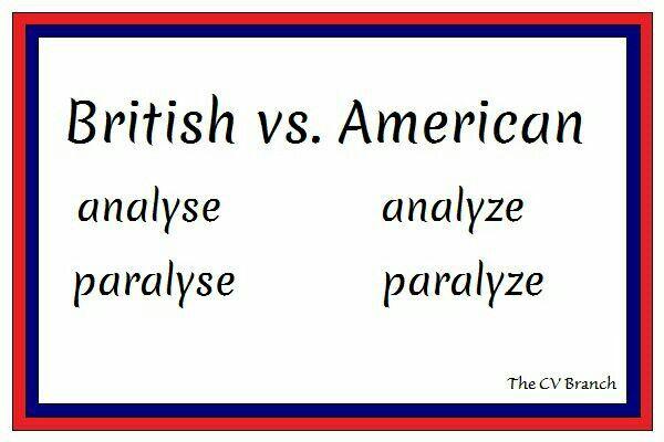 British vs. American #spelling  #TheCVBranch #professionalCVwriter #resume