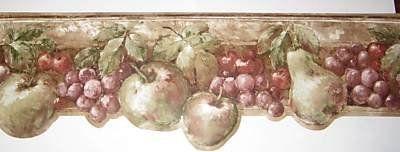 Tuscany Fruit Wallpaper Border KA75865DL - Wallpaper Border For Kitchen - Amazon.com