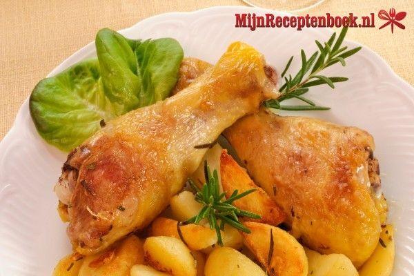 Caribische stoof kip met ananas (450 kcal) recept