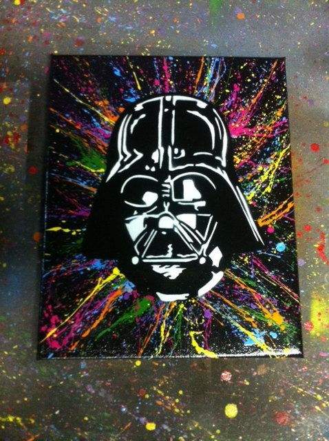 Darth Vader Canvas Darth Vader Spray Art Stencil by wilneverlego