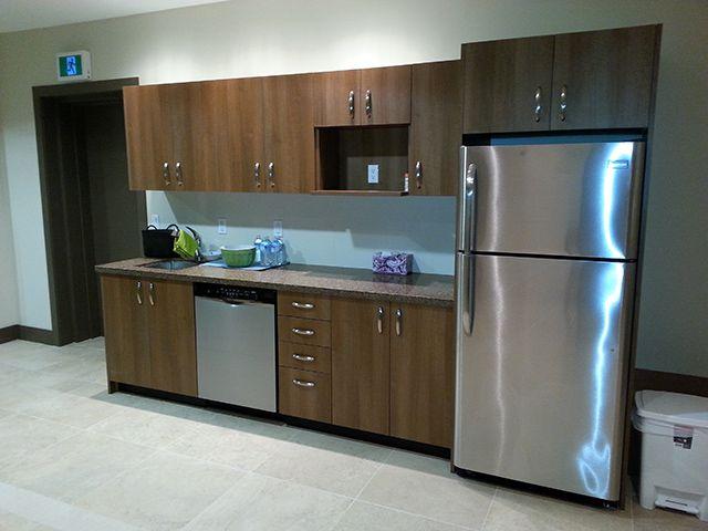 17 best images about custom mill work glass on pinterest reception desks office furniture - Smart kitchen furniture ...