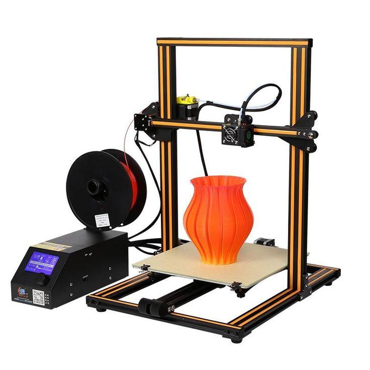 Creality 3D® CR-10 DIY 3D Printer Kit 300*300*400mm Printing Size 1.75mm 0.4mm Nozzle Sale - Banggood.com  #electronics #tools #gadgets #3dprinters