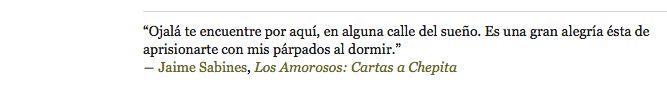Jaime Sabines, Los Amorosos: Cartas a Chepita