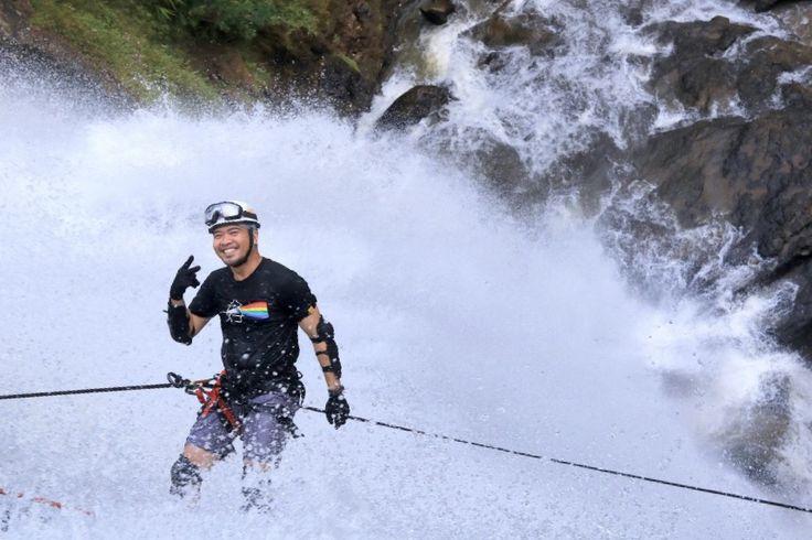 Canyoneering at Cikondang Waterfall - Indonesia