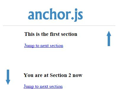 anchor.js – Jump to Specific Section Smoothly #jQuery #scroll #scrolleffect #scrollto #jump #section #smooth