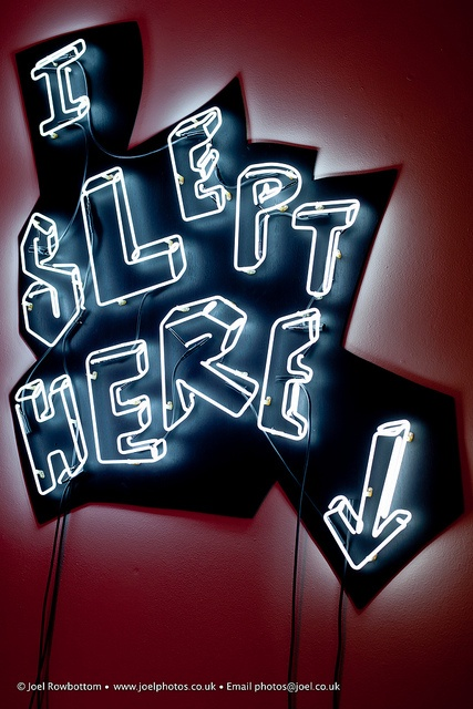 I Slept Here | neon sculpture in Wakefield's Neon Workshop. 29th March 2012