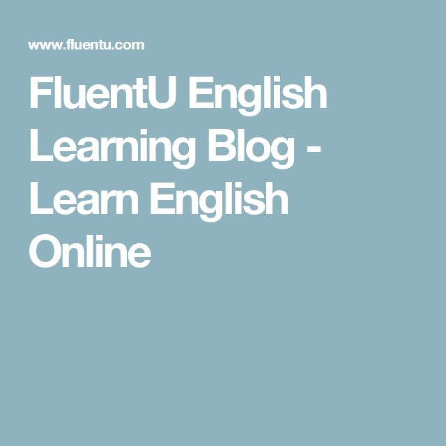 FluentU English Learning Blog - Learn English Online