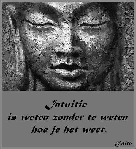 Intuitie is weten zonder te weten hoe je het weet #quotes