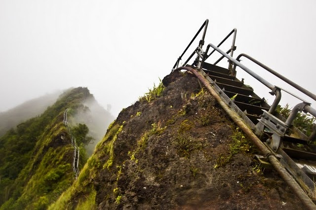 Stairway to heaven- Kaneohe, HI. I climbed this years ago..now it is closed. :-(