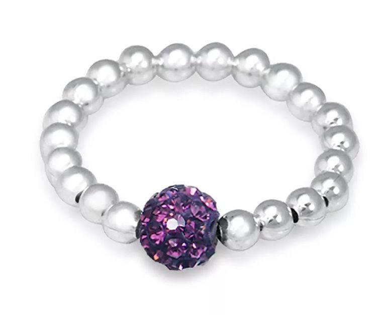 Purple Shambala Bling Ring