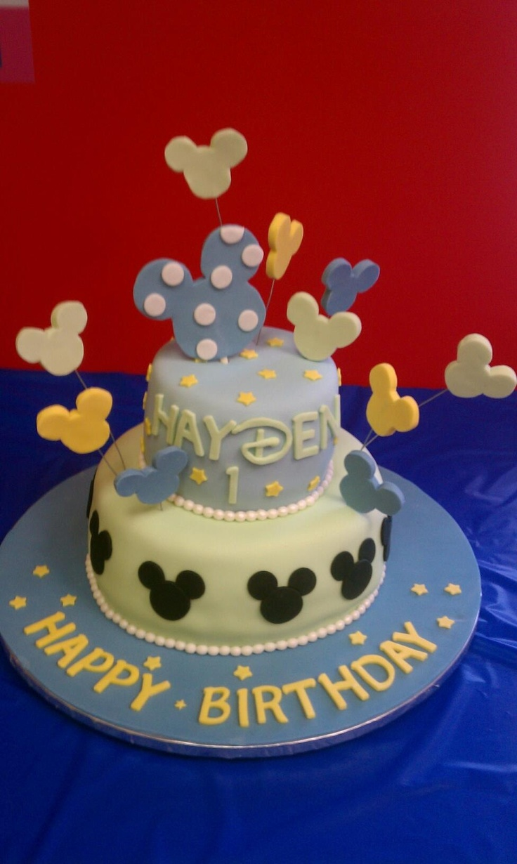 Mickey Cake Red Black Yellow Blue Colors Instead