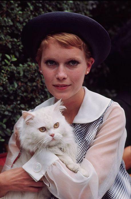 Mia Farrow & Friend