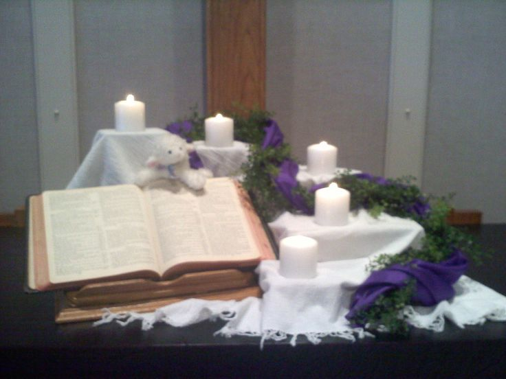 lent 2012 psalm 23 theme i like the garland and fabric wound together find this pin and more on altar table ideas