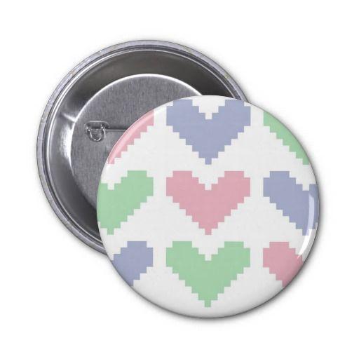 Pastel hearts badge