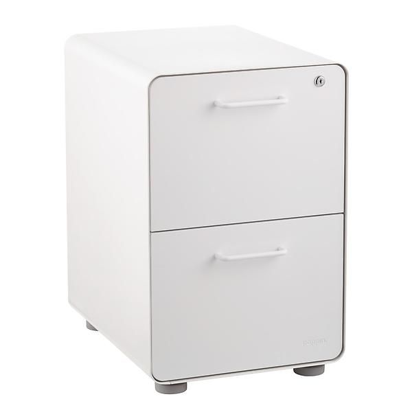 Poppin White 2 Drawer Stow Locking Filing Cabinet In 2020 Filing Cabinet Drawers Under Stairs Cupboard