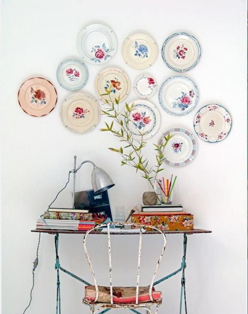 One of my hang ups ~ Plates on the Wall http://mysoulfulhome.com/one-of-my-hang-ups-plates-on-the-wall/ via bHome https://bhome.us