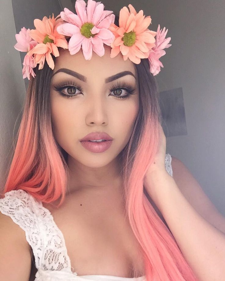 Flower child  Inspired by the Snapchat Filter !!! Lashes 'Opulence' @lillylashes  Manny MUA Eyeshadows @makeupgeek  Melted Matte Lipstick 'Sell out'  'Cool Girl' @toofaced  Wig @powderroomd  Flower Crown @forever21  by promisetamang